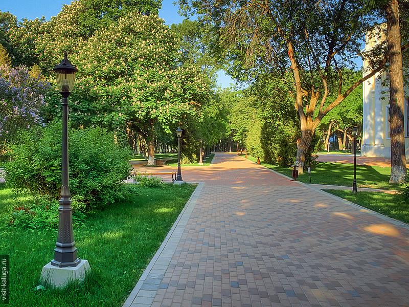 калужский парк, центральная аллея