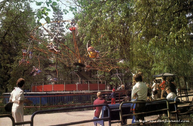 калуга, городской парк, аттракцион ромашка
