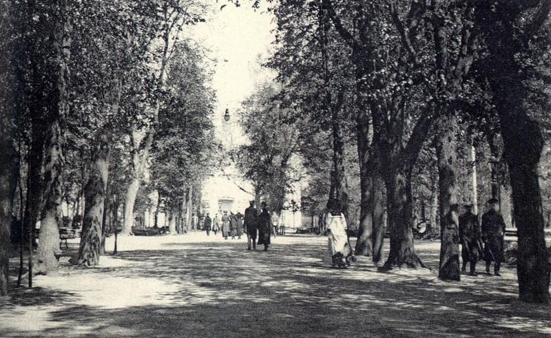 калужский городской сад, центральная аллея