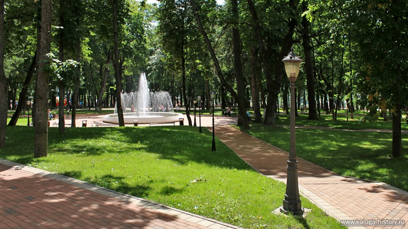 калуга, парк, фонтан