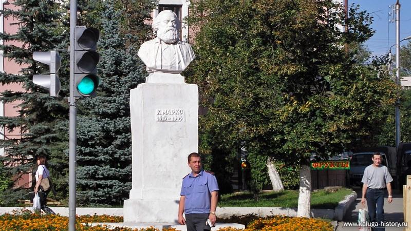 калуга, памятник марксу, 2002 год