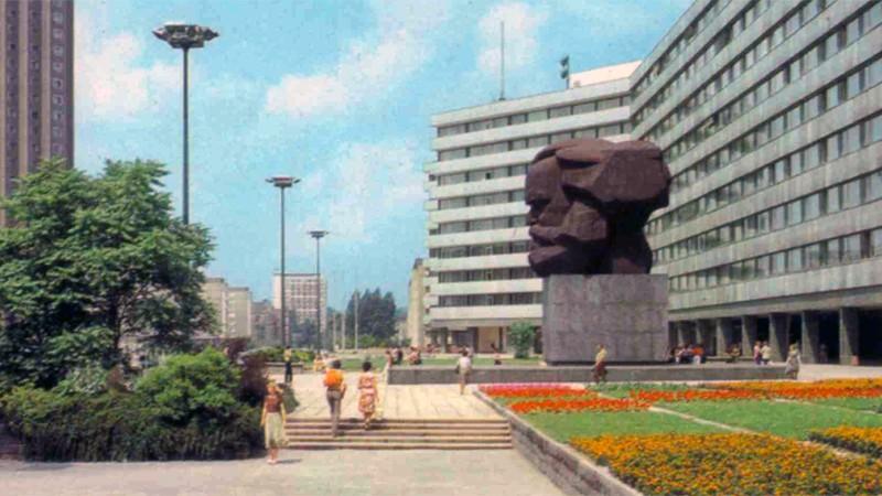 Памятник Карлу Марксу Л. Е. Кербеля, Карл-Маркс-Штадт,  Хемниц, Германия